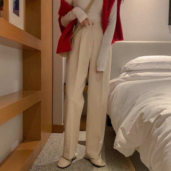 Inbird pintuck cotton pants