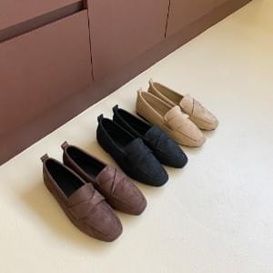 Suede twist loafers 1cm