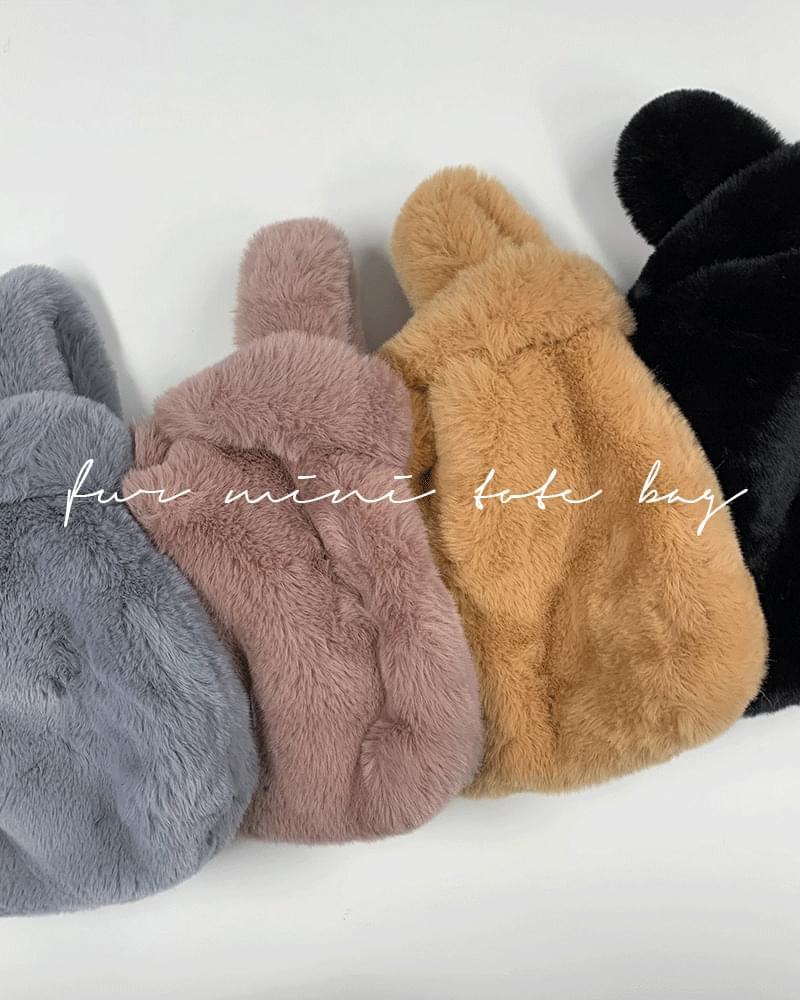 Judyke Soft Mink Rabbit Fur Mini Tote Bag