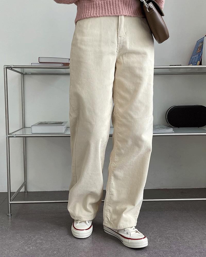 Litney Golden Corduroy Long Wide Pants
