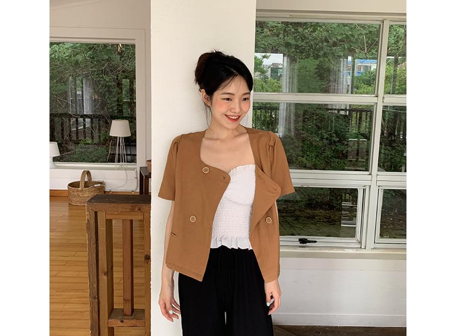 Classic Double Linen Puff Jacket