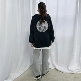 【Daily】Moonレタリング起毛プルオーバー