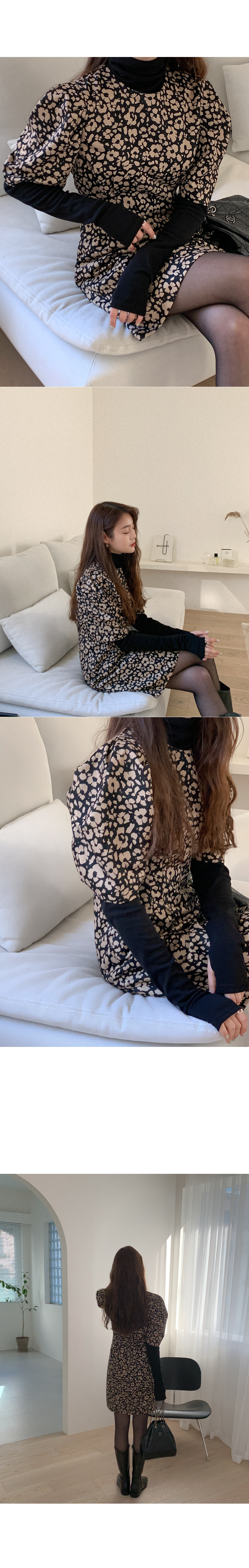 Veroji leopard dress