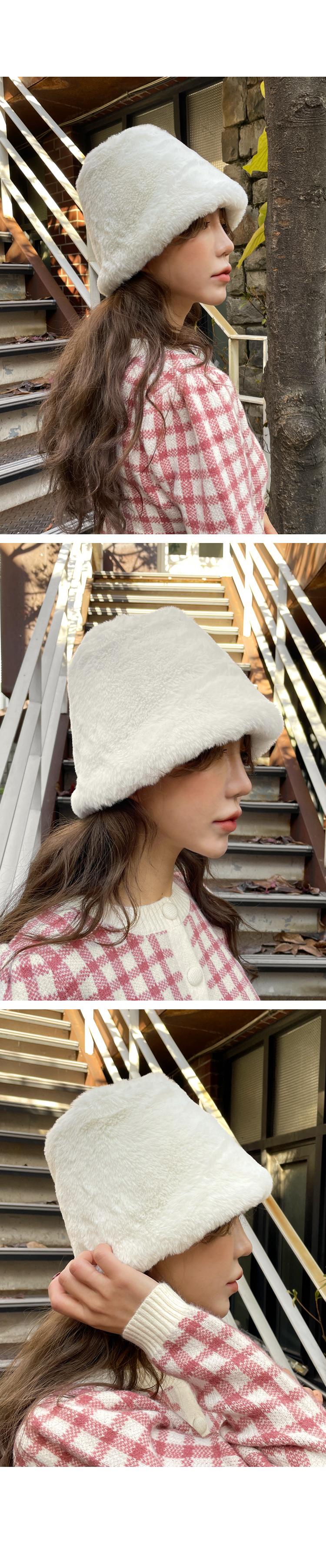 LINOI FUR BUCKET HAT