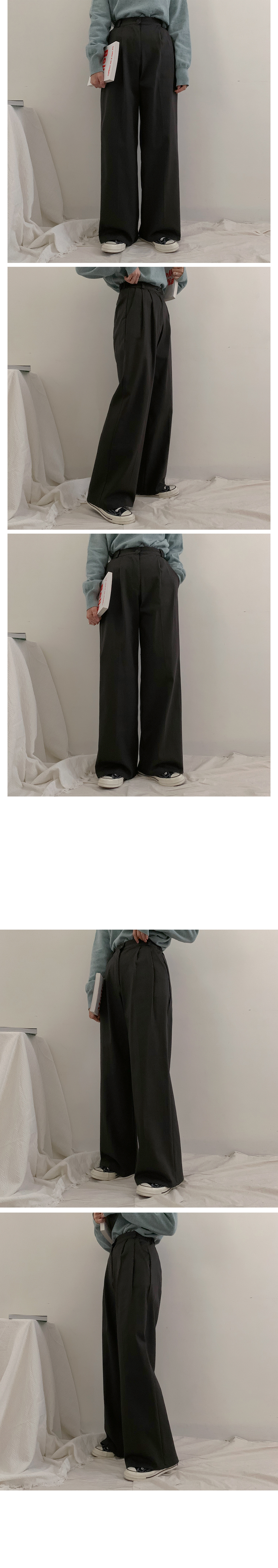 Knuts Cotton Pintuck Wide Pants