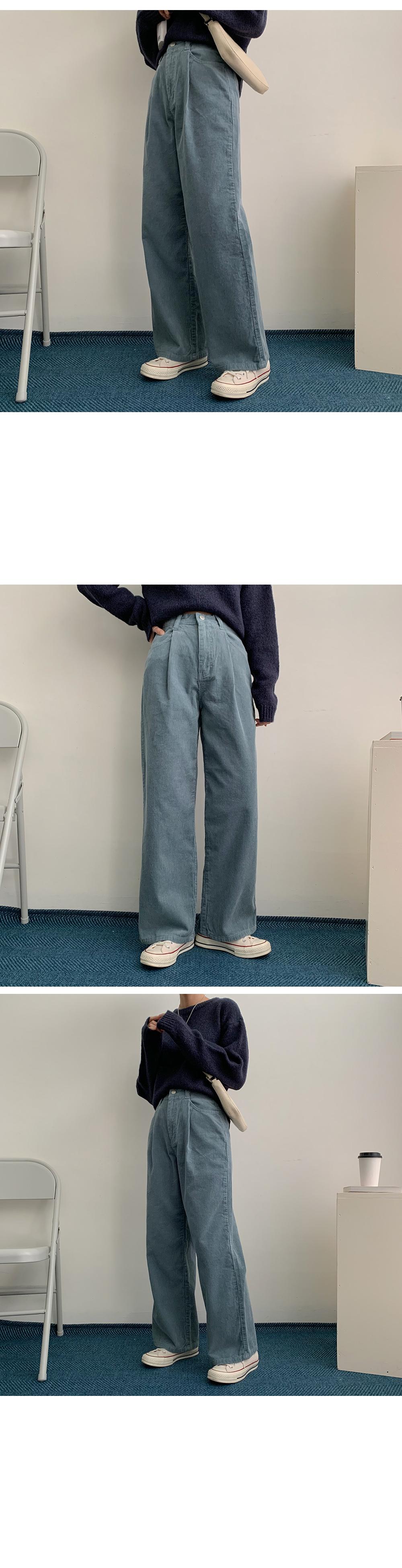 Jubi Golden Pin Tuck Banding Wide Pants
