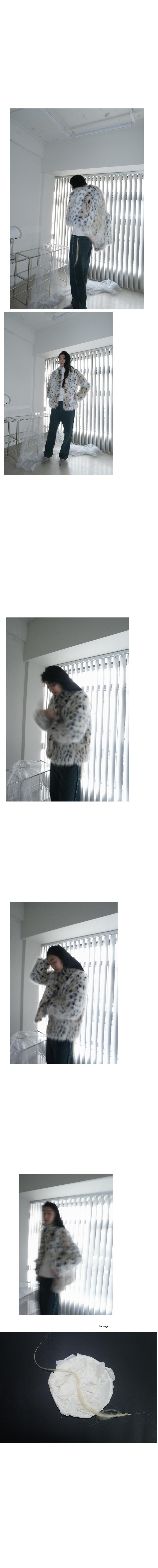 ivory leopard fur jacket