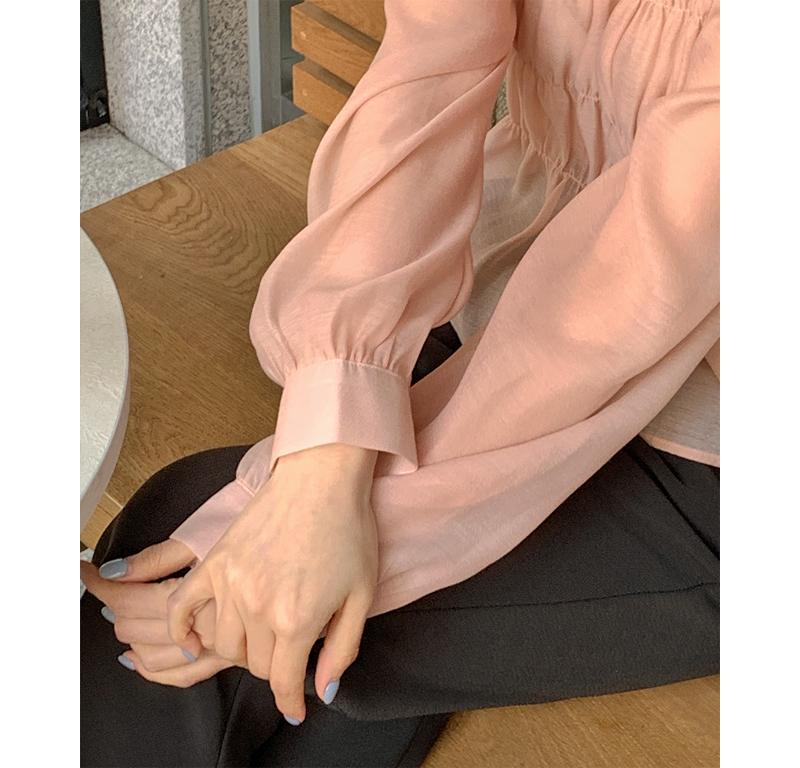 Ervane Shirring Banding Blouse