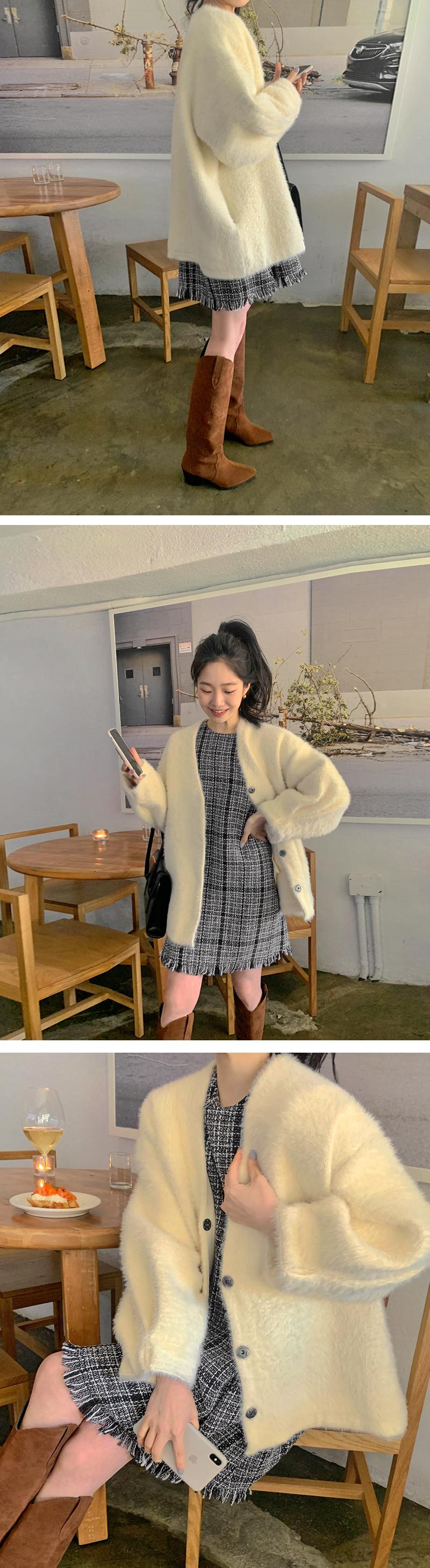 Winter Bell Hul Tweed Mini Dress