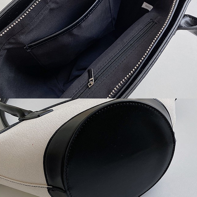 Canvas Color Tote Leather Bag