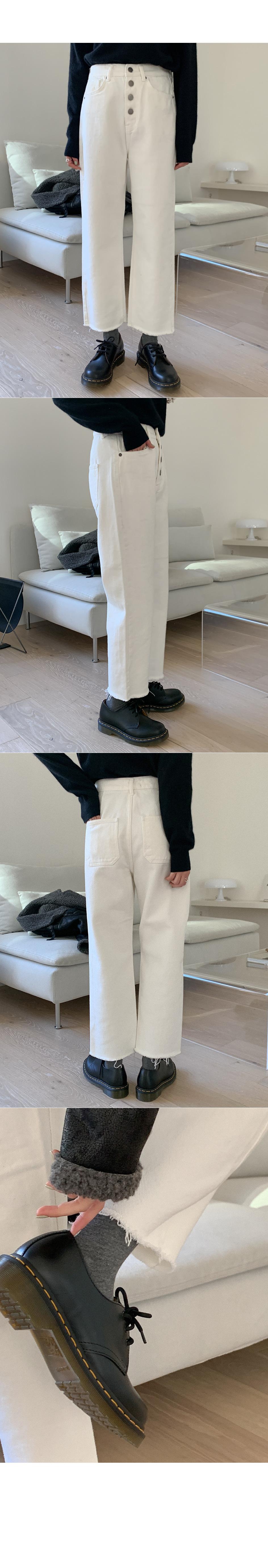 Fleece-lined cotton pants