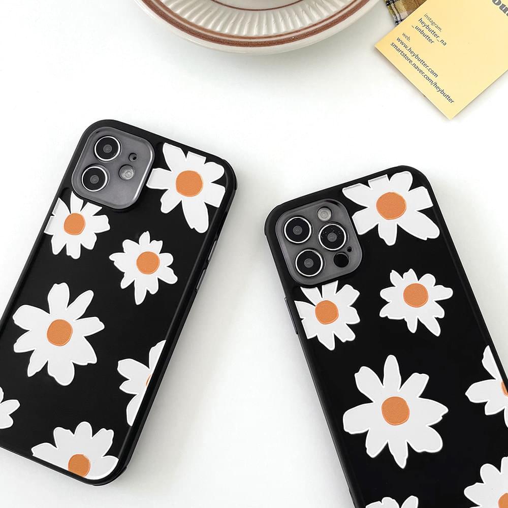 Black Daisy Air Bumper iPhone Case