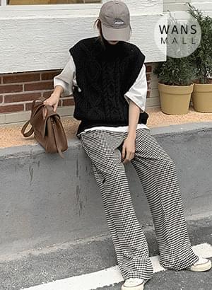 kn3459 Melan Turtleneck Knitwear Vest