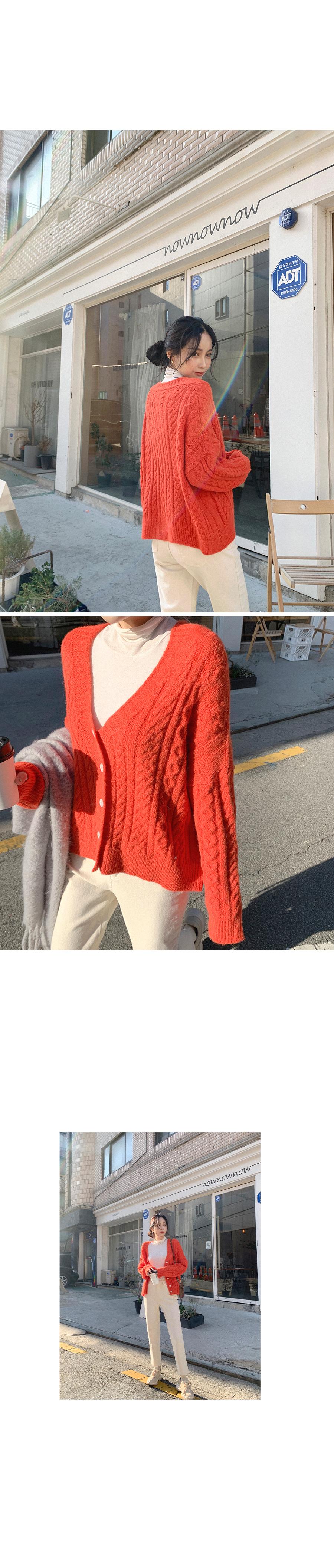 Point Twisted Knitwear Cardigan