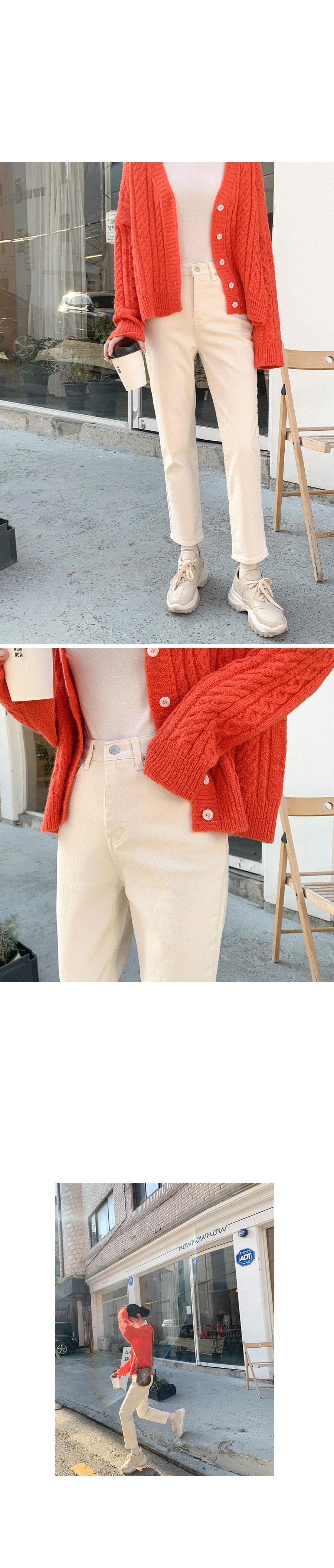 Wanted color cotton pants