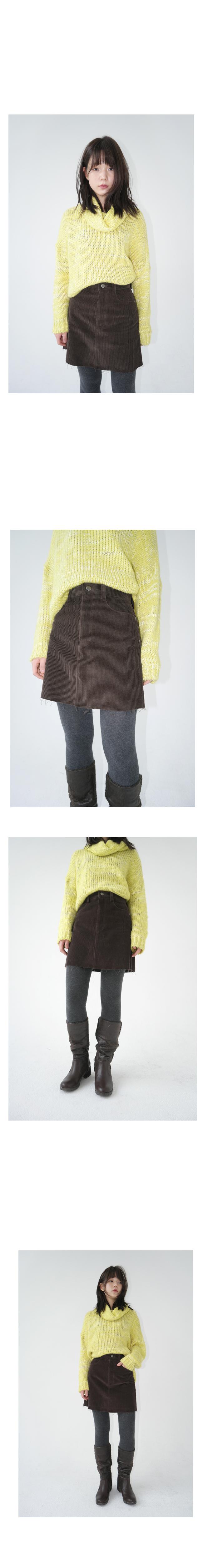 crochet turtle neck knit