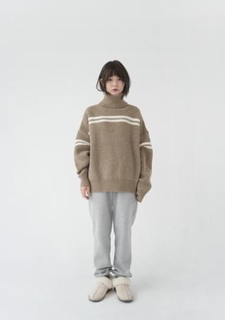 multi weave line knit