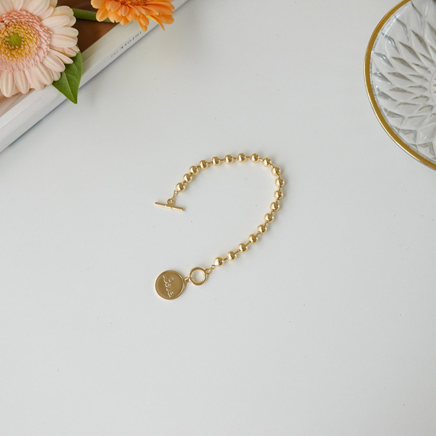 Line long ball bracelet