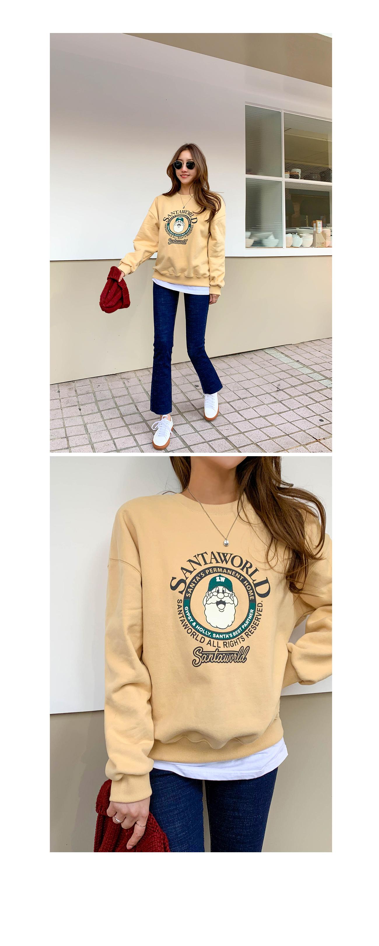 World Santa Woolen of Sweatshirt brushed # 108706