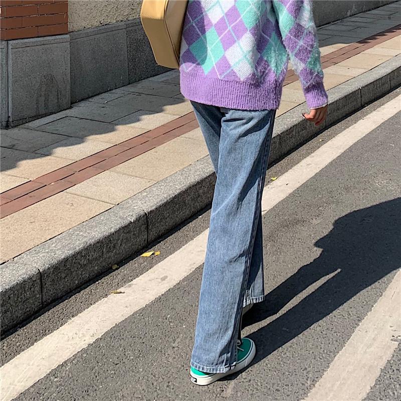 dp3467 session two-line split denim pants