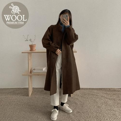 Tealong Trench Wool Coat