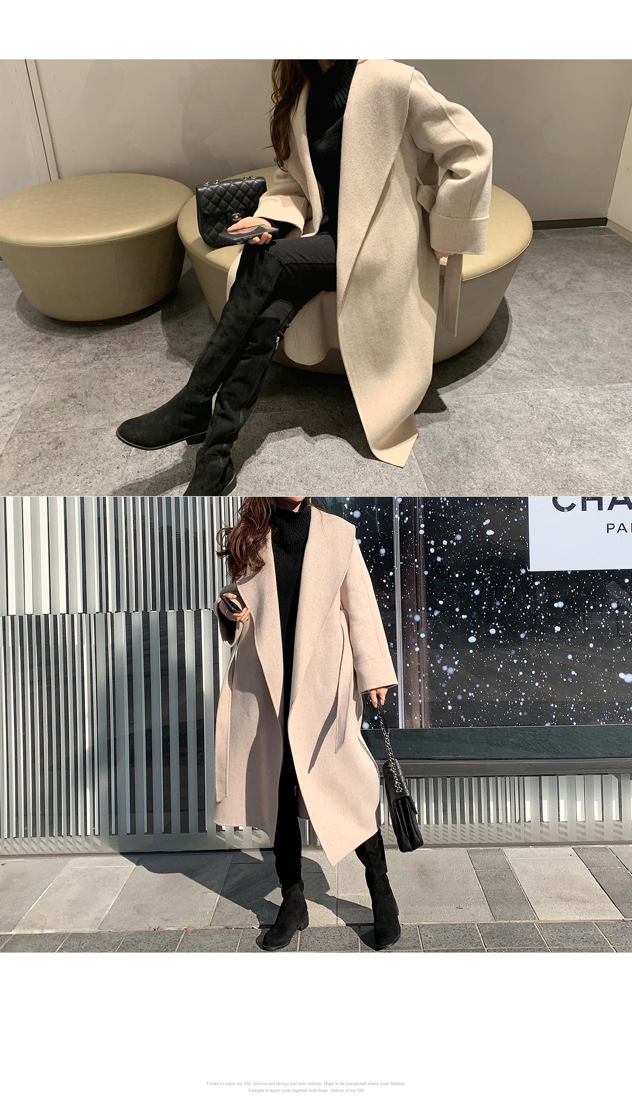 Daily Hoodie Robe Coat #65755
