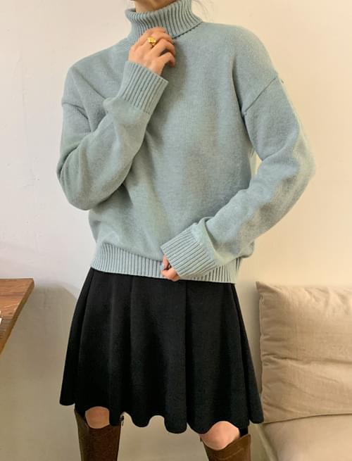 Normal Soft Wool Turtleneck Knitwear