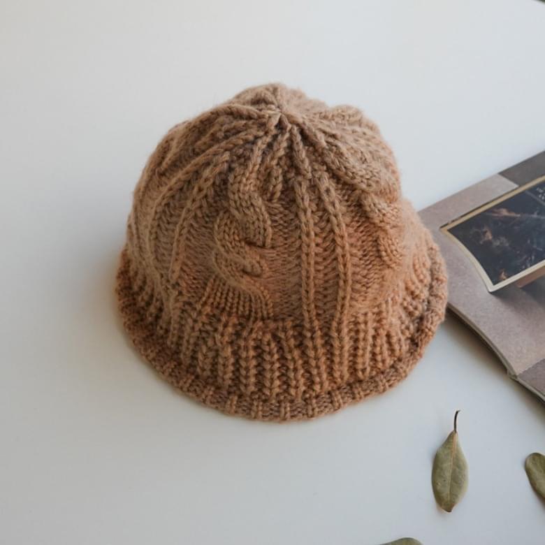 Honey Tangle Knit Bucket Hat