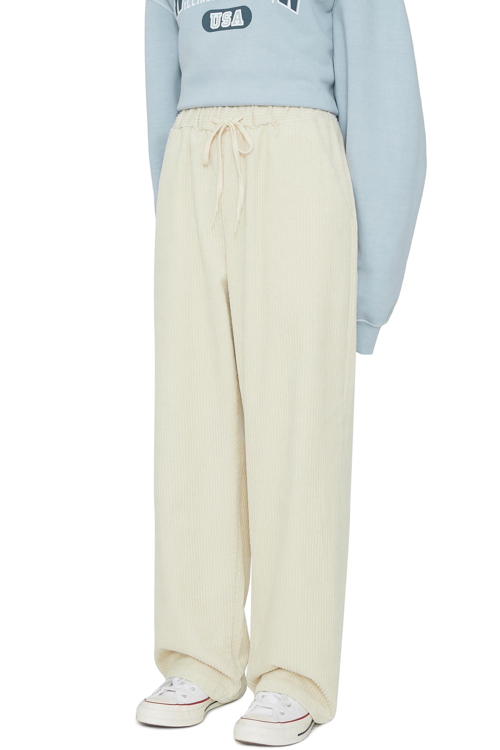 Easy corduroy banding trousers