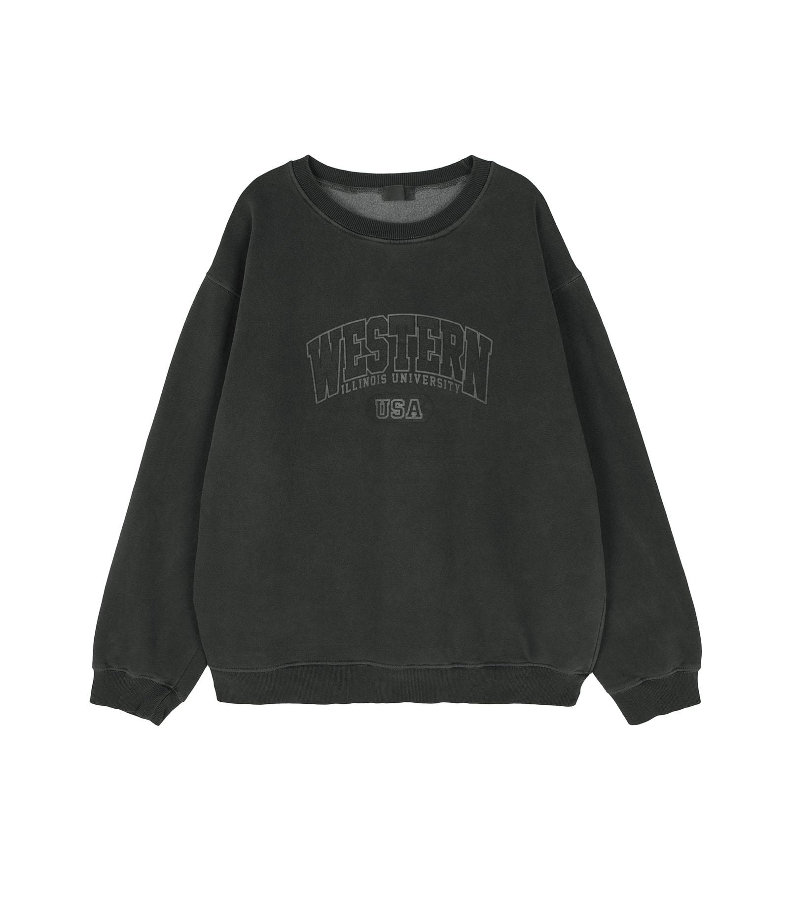 Western printed Fleece-lined crew neck sweatshirt