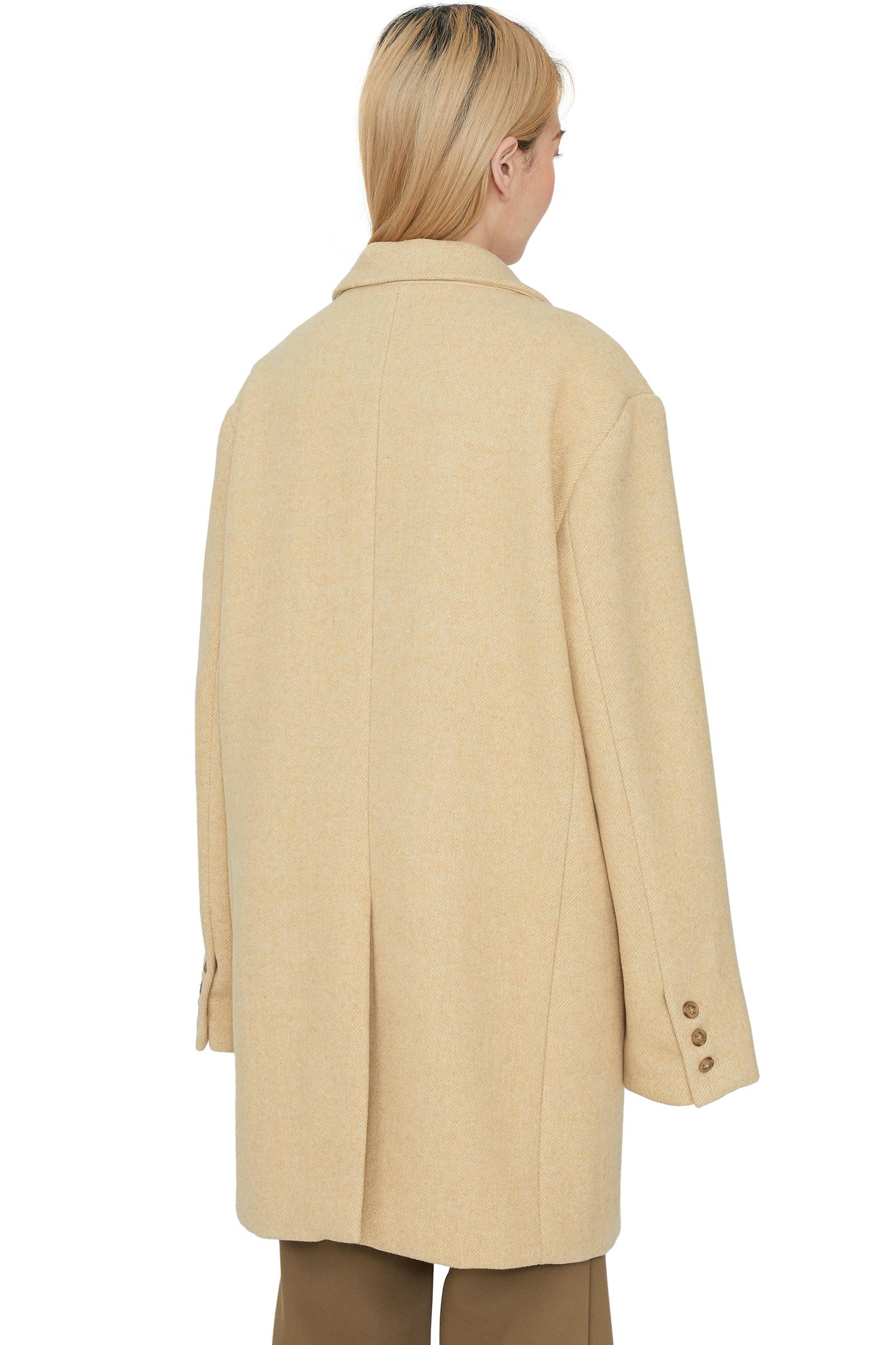 Chic wool over half coat