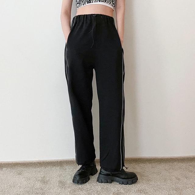 Wide banded training pants