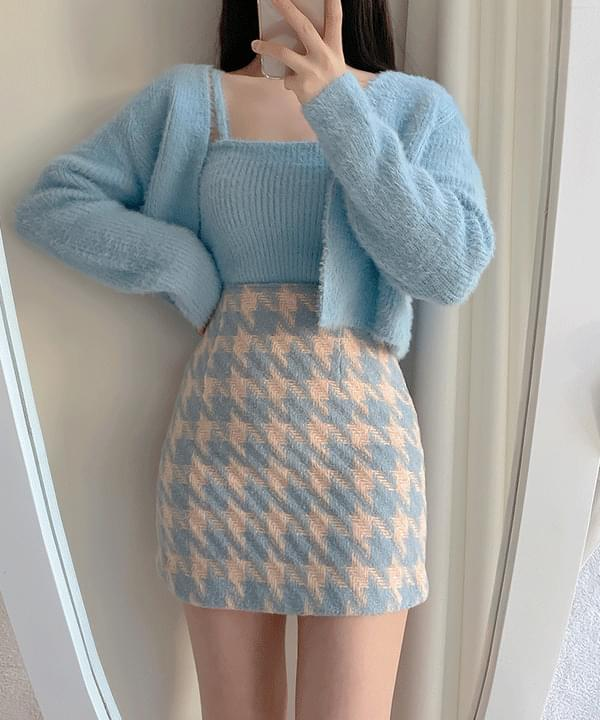 Sweet Hound Check Skirt 2color (Delayed delivery)