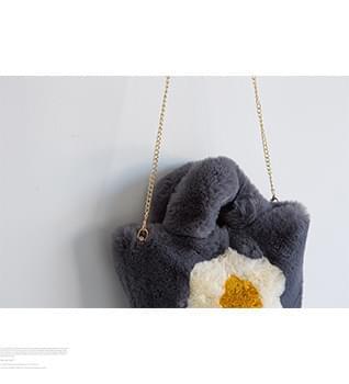 韓國空運 - Egg Fried Mini Fur Tote #86396 托特包