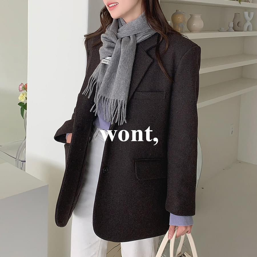 Color Inner Knit + Basic Quilted Jacket