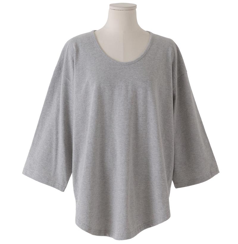 Cozy Loose-fit U-neck Fleece-lined T-shirt
