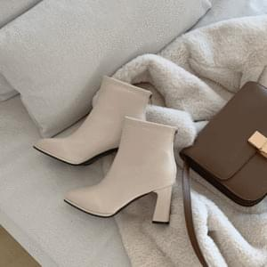 Fleece-lined Booty Ankle Boots 8cm