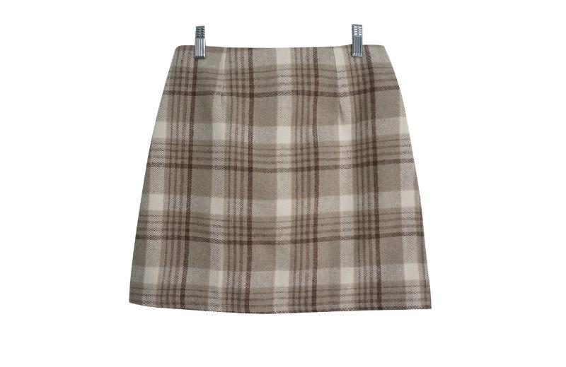 Schnee check mini skirt