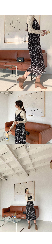 Fine Flower Velvet Bustier Long Dress