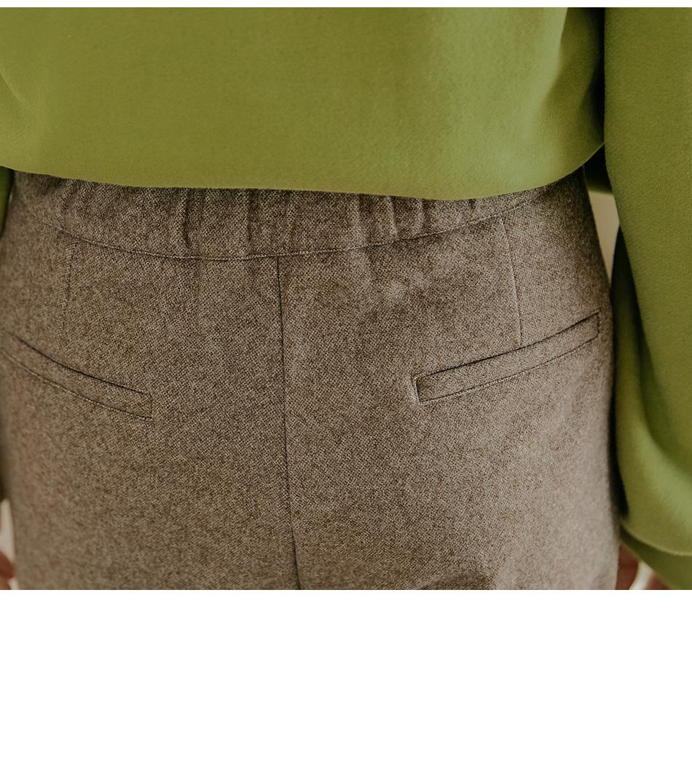 Pleat Detail Straight Slacks