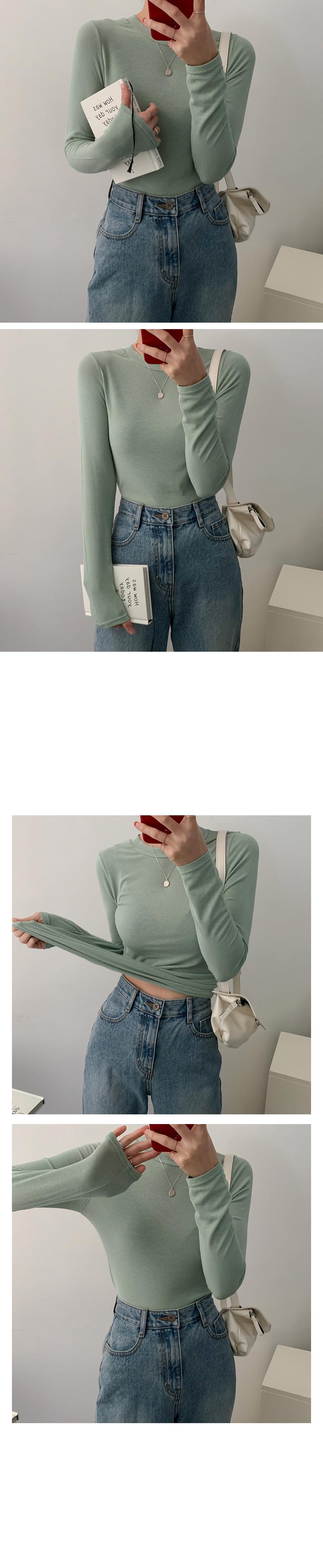 Melting Round Basic Inner Long Sleeve Tee