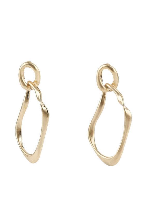Curve wave earrings
