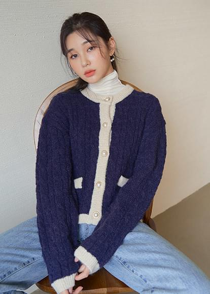 韓國空運 - Alpaca wool cable cardigan 開襟衫