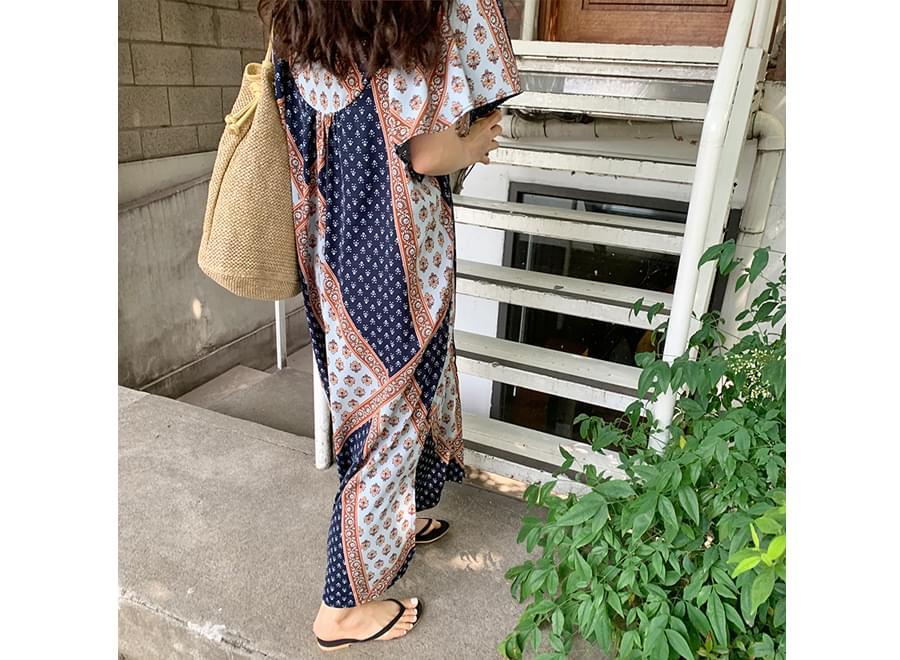 Ethnic Paisley Long Dress