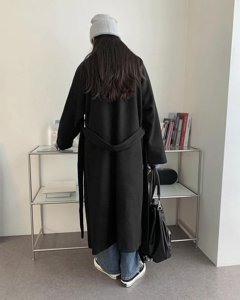 Hidden single long coat