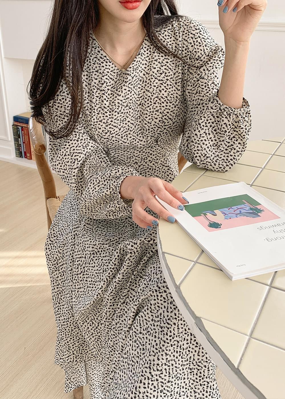 Unbalanced wrinkle long dress