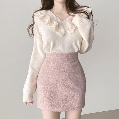 Thick Snowflake Winter Mini Skirt 3color