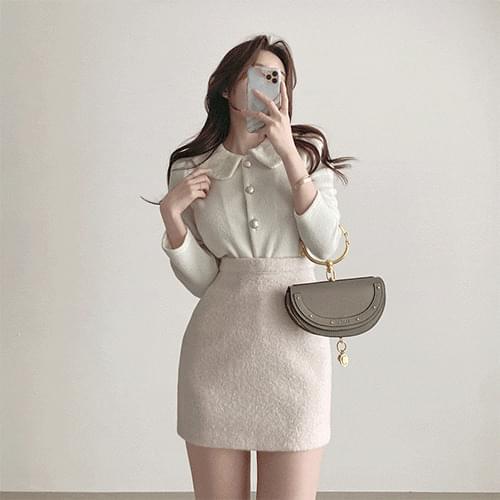 Kanadaran percara pearl fleece thick blouse