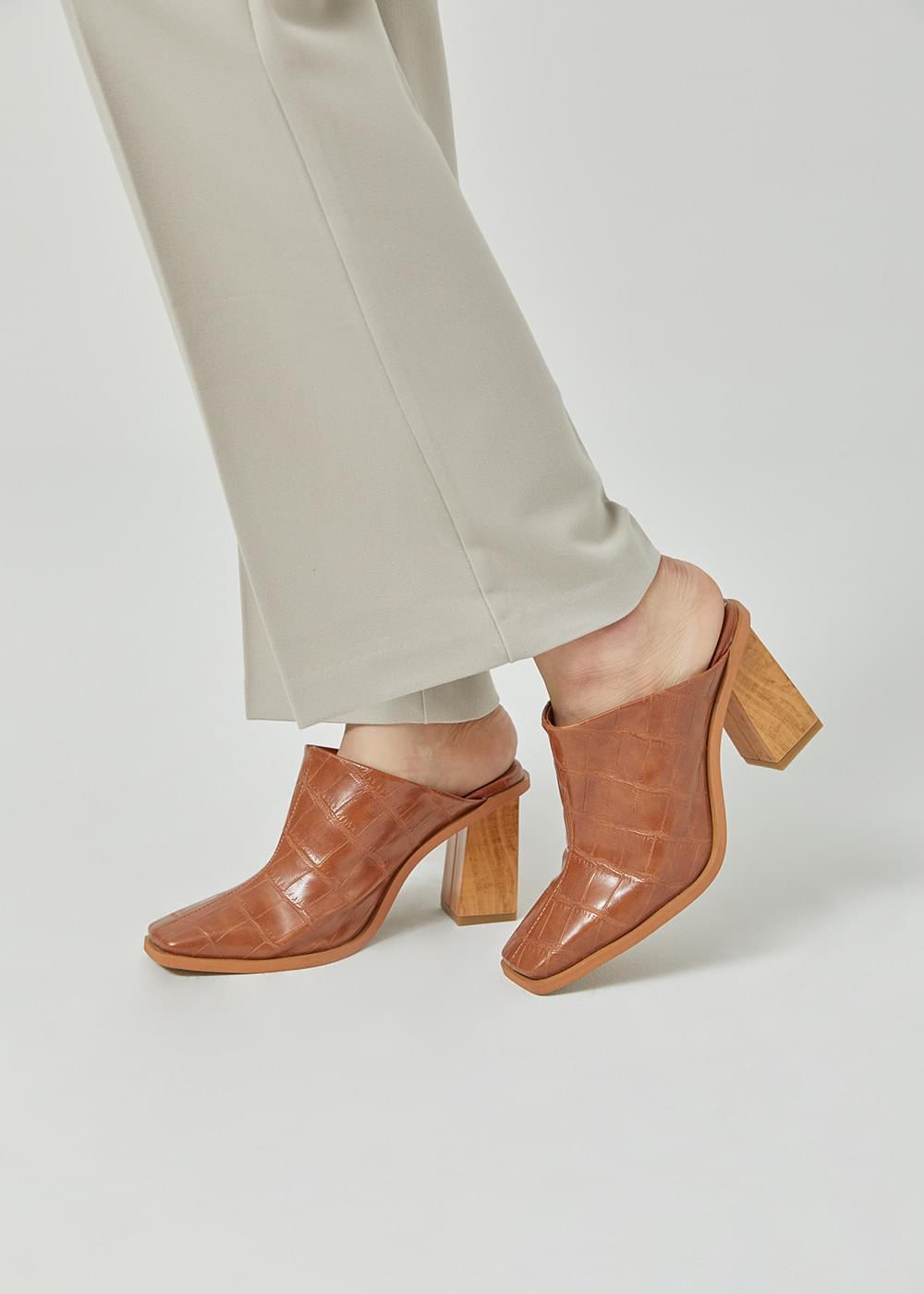 High square heel