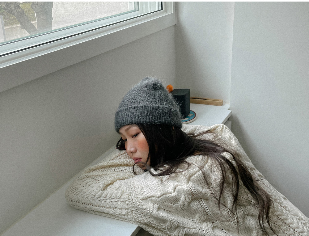 Winter Angora Beanie